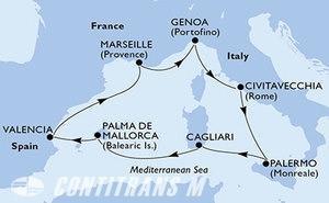 Italy, Spain, France