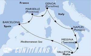 Spain, France, Italy, Malta