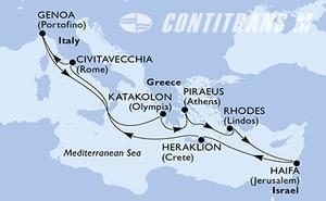 Italy, Greece, Israel