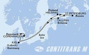 Germany, Denmark, Finland, Russian Federation, Estonia