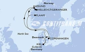 Denmark, Norway, Germany