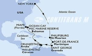 United States, Netherlands Antilles, Martinique, Grenada, Aruba, Bahamas