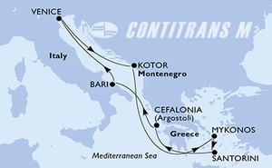 Italy, Montenegro, Greece