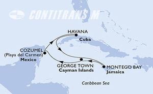 Mexico, Cuba, Jamaica, Cayman Islands