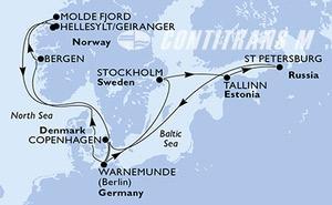 Denmark, Germany, Norway, Sweden, Estonia, Russian Federation