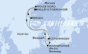Denmark, Germany, Norway