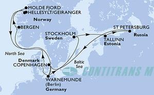Germany, Sweden, Estonia, Russian Federation, Denmark, Norway