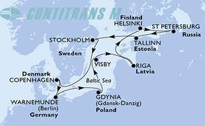 Germany, Poland, Sweden, Latvia, Finland, Russian Federation, Estonia, Denmark