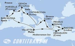 Spain, Malta, Greece, Italy, France