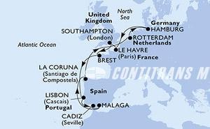 United Kingdom, France, Portugal, Spain, Netherlands, Germany