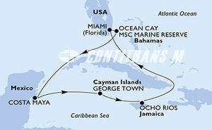 United States, Bahamas, Mexico, Cayman Islands, Jamaica