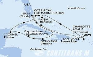 United States, Puerto Rico, Virgin Islands (U.S.), Bahamas, Jamaica, Cayman Islands, Mexico