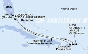United States, Puerto Rico, Virgin Islands (U.S.), Dominican Republic, Bahamas