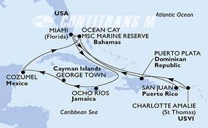 United States, Puerto Rico, Virgin Islands (U.S.), Dominican Republic, Bahamas, Jamaica, Cayman Islands, Mexico