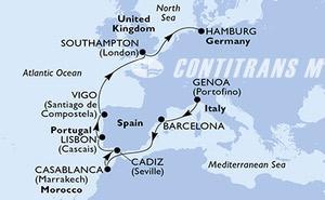 Italy, Spain, Morocco, Portugal, United Kingdom, Germany