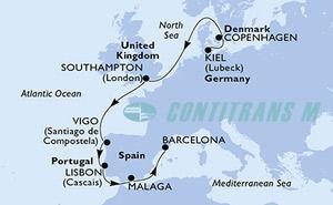 Germany, Denmark, United Kingdom, Spain, Portugal