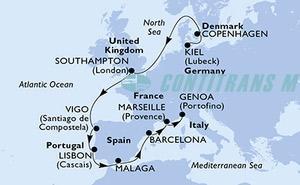 Germany, Denmark, United Kingdom, Spain, Portugal, France, Italy