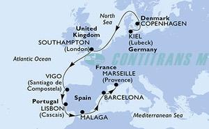 Germany, Denmark, United Kingdom, Spain, Portugal, France