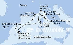 France, Spain, Italy