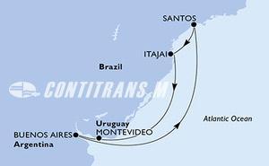 Uruguay, Argentina, Brazil