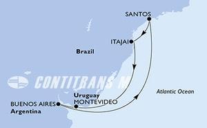 Argentina, Brazil, Uruguay