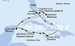 United States, Jamaica, Cayman Islands, Mexico, Bahamas