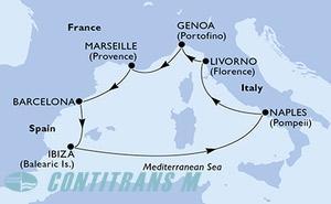 Spain, Italy, France