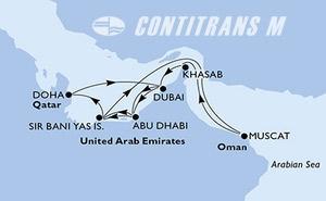 Dubai,Abu Dhabi,Sir Bani Yas Is,Muscat,Khasab,Dubai,Dubai,Abu Dhabi,Sir Bani Yas Is,Doha,Doha,Dubai,Dubai