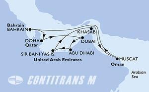 Dubai,Dubai,Abu Dhabi,Sir Bani Yas Is,Khasab,Muscat,Bahrain,Doha,Doha,Dubai,Dubai