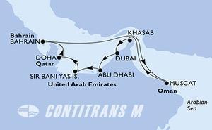 Dubai,Dubai,Abu Dhabi,Sir Bani Yas Is,Doha,Doha,Bahrain,Muscat,Khasab,Dubai,Dubai