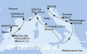 Spain, France, Italy, Montenegro, Croatia
