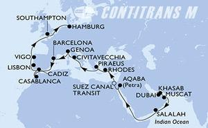 United Arab Emirates, Oman, Jordan, Egypt, Greece, Italy, Spain, Morocco, Portugal, United Kingdom, Germany