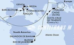 Brazil, Spain, France, Italy
