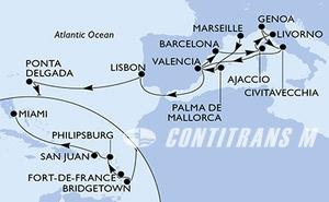 France, Spain, Italy, Portugal, Barbados, Martinique, Netherlands Antilles, Puerto Rico, United States