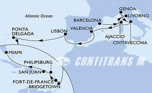 Spain, France, Italy, Portugal, Barbados, Martinique, Netherlands Antilles, Puerto Rico, United States