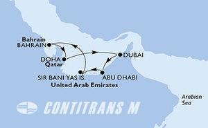 Dubai,Abu Dhabi,Sir Bani Yas Is,Bahrain,Doha,Dubai,Dubai