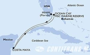 United States, Mexico, Bahamas