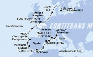 Denmark, United Kingdom, Spain, Portugal, France, Italy