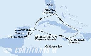Miami,Ocho Rios,George Town,Cozumel,Costa Maya,Miami
