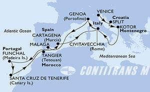 Italy, Croatia, Montenegro, Spain, Portugal, Morocco