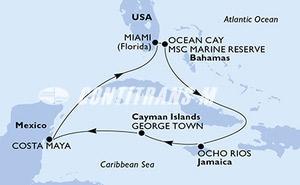 Miami,Ocean Cay,Ocho Rios,George Town,Costa Maya,Miami