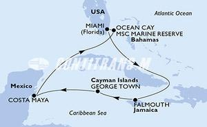 Miami,Falmouth,George Town,Costa Maya,Ocean Cay,Miami