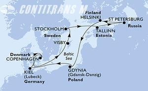 Denmark, Sweden, Estonia, Russian Federation, Finland, Poland, Germany