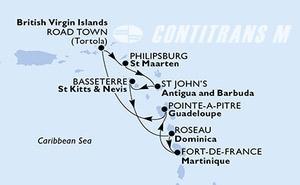 Pointe-a-Pitre,Road Town,Philipsburg,St John s,Basseterre,Roseau,Fort de France,Pointe-a-Pitre