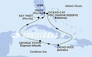 United States, Bahamas, Jamaica, Cayman Islands