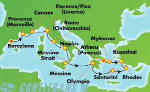 Greek Isles & Italy (BCN/PIR)