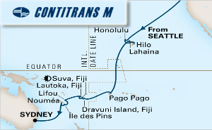 26-DAY SOUTH PACIFIC CROSSING