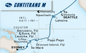 28-DAY SOUTH PACIFIC CROSSING