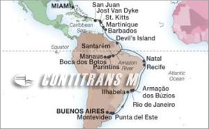 36-DAY BRAZIL, AMAZON & CARIBBEAN ISLES