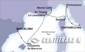 Барселона, Корсика, Френска Ривиера, Менорка